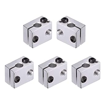 Pack of 5pcs BIQU Aluminum Heater Block Specialized for MK7 MK8 3D Printer Extruder