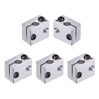 Pack of 5Pcs WINSINN V6 Heat Block Black Heater Block Aluminum for RepRap Bowden J-Head V6 3D Printer Extruder Hotend WINSINN Technology Ltd