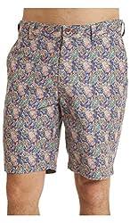 Robert Graham Men's Lake Havasu Woven Shorts Blue Shorts 32 X 9