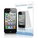 iPhone 4S Screen Protector, amFilm Apple iPhone 4S/4 Screen Protector Premium HD Clear (3-Pack)(3 Bonus Back Films Included)
