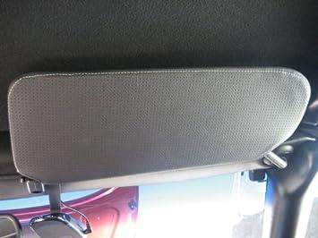 Black Leather-Black Thread RedlineGoods Sun Visor Covers Compatible with Chevrolet Corvette C5 1997-04