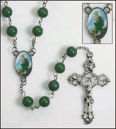 DDI - St Jude Round Bead Rosary (1 pack of 24 items)