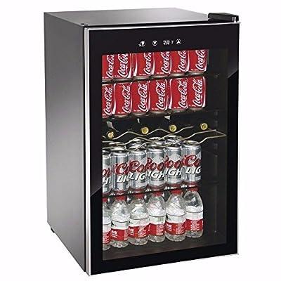 Beverage Wine Cooler Center Mini Dorm Refrigerator Freezer Black Fridge