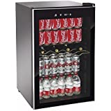 Beverage Wine Cooler Center Mini Dorm Refrigerator Freezer Black Fridge