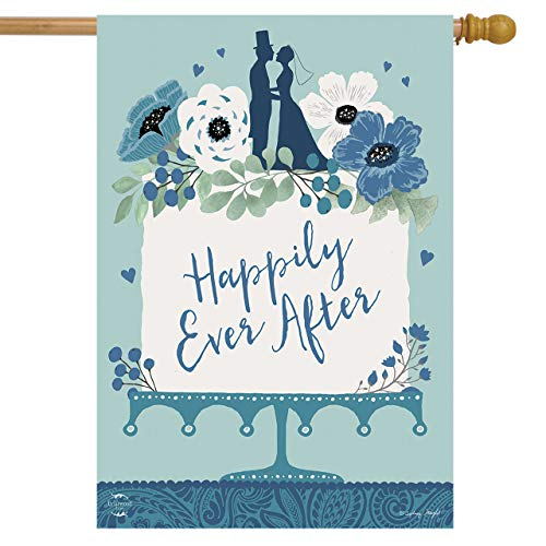 Happily Ever After Wedding House Flag Bride & Groom Cake 28
