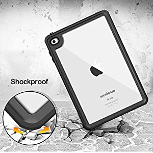iPad Mini 4 Waterproof Case, Meritcase iPad Mini 4(7.9 inch), IP68 Waterproof Full Body Snowproof Dustproof Shockproof Case with Touch ID and Kickstand for Snowmobile Swimming Surfing Diving- (Black)