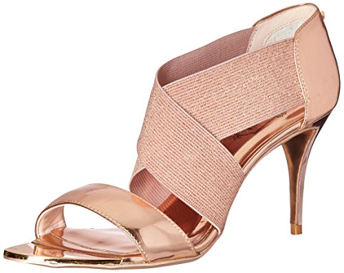 Ted Baker Women's Leniya Lthr AF Formal Shoe Dress Sandal, Rose Gold, 9.5 M US