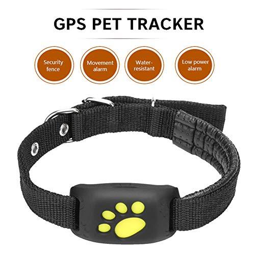 BEESCLOVER Cute Lightweight GPS Dog Cat Pet Realtime Tracker GSM/GPRS Finder Locator Alarm Waterproof Collar Black ()