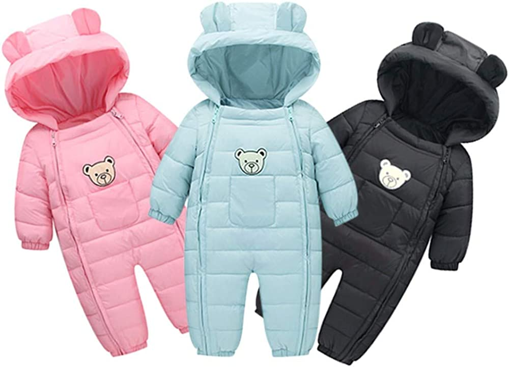 Lurryly❤Newborn Toddler Baby Girls Boys Romper Bodysuit Jumpsuit Thick Outfit Clothes 0-24 M