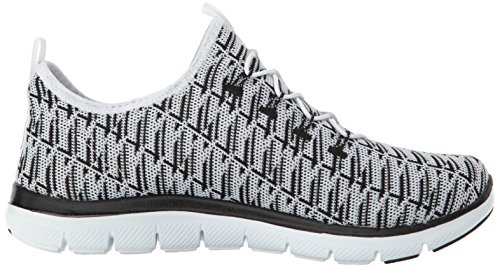 Skechers Women's Flex Appeal 2.0 Insight Sneaker White/Silver cheap sale best place clearance pay with visa aPgb5Wes