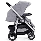 Costzon Baby Stroller, 2-in-1 Convertible Baby Carriage, Infant Pram Stroller with Cup Holder and 5-Point Safety System (Gray)