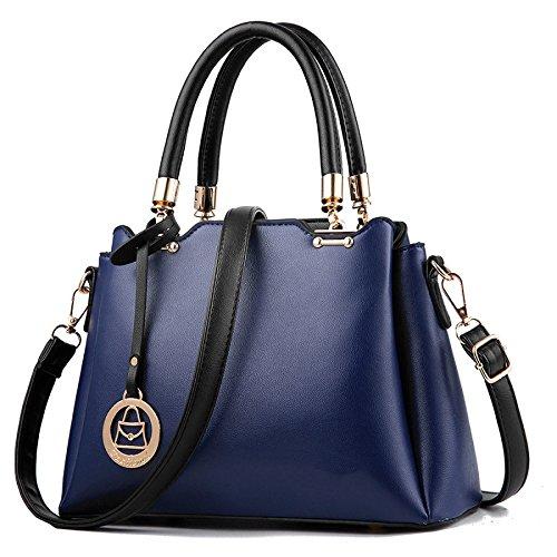 Bolso De Hombro De Las Mujeres Messenger Bag Classic Fashion Simple Darkblue