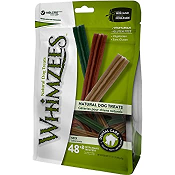 Whimzees Natural Grain Free Dental Dog Treats, Extra Small Stix Bag Of 48