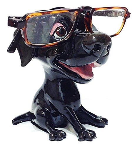 Black Labrador Retriever Dog Breed Novelty Eyeglass Holder Stand