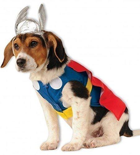 Mascota Perro Gato Thor Avengers Marvel Disfraz de Halloween ropa ropa - Large: Amazon.es: Productos para mascotas