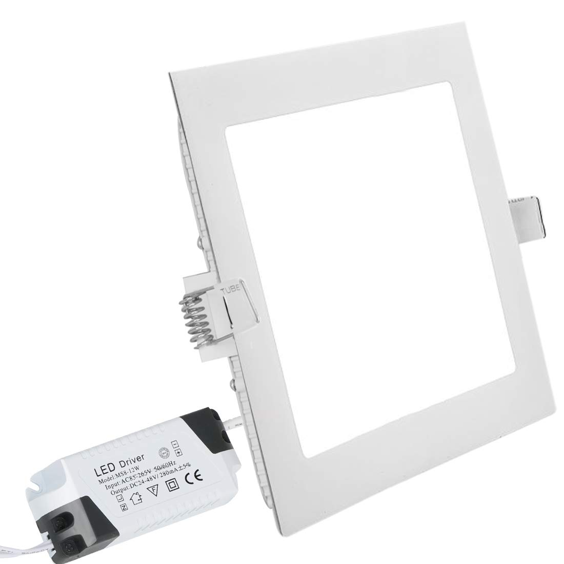 LED Panel Light Led Recessed Lights Recessed Ceiling Panel Square Ultra Slim Flat Panel Down Light for Home Living Room Bathroom Dining Room Corridor Conference Room Office Gazebo 9W 3000K XYD