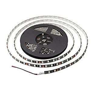 XKTTSUEERCRR 16.4ft/5M, Black PCB 5050 SMD 300LED, IP65Waterproof LED Light Strip for Outdoor/ Indoor/ Car/ Booth/ Stage/ House Celebration Decoration + DC Connector (Power Supply Not Included)-Green