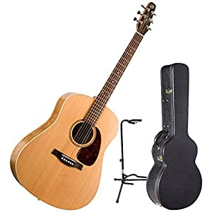 seagull s6 slim acoustic guitar w acoustic case and guitar stand musical instruments. Black Bedroom Furniture Sets. Home Design Ideas