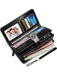 Elegant 24 20 cc Slots Womens RFID Wallets Large Capacity...