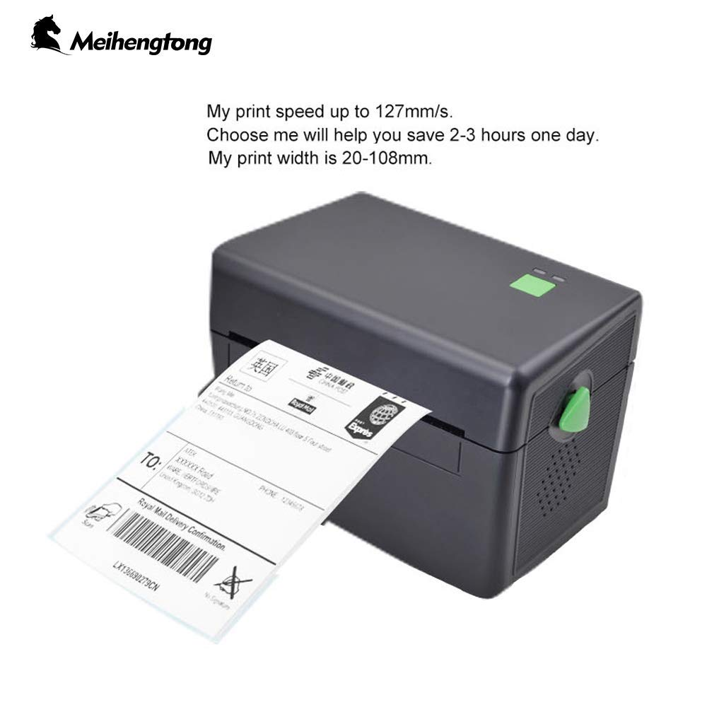 Thermal Label Printer, Meihengtong Desktop Label Printer for BarCodes, Compatible with Windows, MHT-DT108B (USB) by Meihengtong