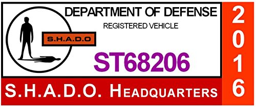 S.H.A.D.O. Parking Decal UFO Television Show - Gerry Anderson