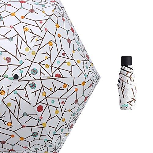 Guoke The Weather Was Fine Rain Umbrellas Use A Sunscreen Ultra Small Ultra Light Mini Light Folding Portable, Tiles - Suit by Guoke (Image #4)