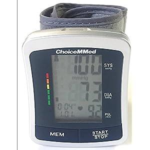 "CHOICEMMED Wrist Blood Pressure Monitor - BP Cuff Meter with Display - Blood Pressure Machine up 5.3""-8.5"" Wrists - Blood Pressure Tester Kit with Case - Blood Pressure Gauge with Memory"
