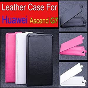High Quality New Original Huawei G7 Leather Case Flip Cover for Huawei G 7 Case Phone Cover In Stock Free Shipping --- Color:Rose
