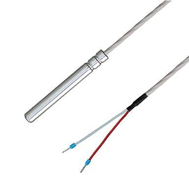 IP67 wasserdicht Teflon-Anschlussleitung bis 250/°C lebensmittelecht PT1000 Kabelf/ühler//Temperaturf/ühler