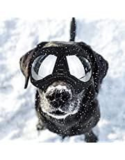PETLESO Large Dog Googles- Dog Eye Protection Sunglasses Snow Doggles for Large Dog, Black