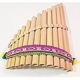 Gorgeous Bamboo Curved Pan Flute Antara 13 Pipes Artisan Handmade from Peru