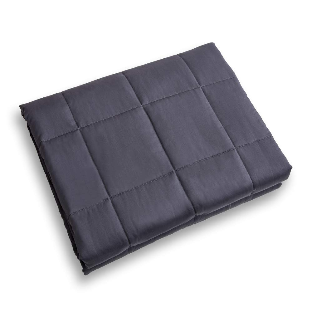 "Ourea Cool Weighted Blanket, (10 lbs, 48"" × 78"", Dark Grey) Various Sizes for Children and Adults, Perfect Sleep Therapy for People with Insomnia, Stress, Anxiety, Autism or ADHD."