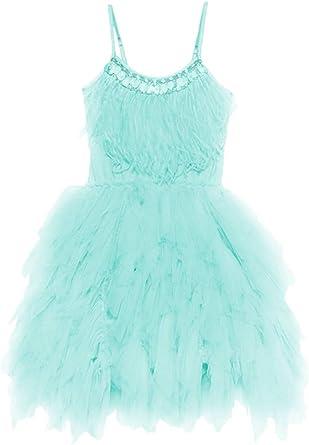 Little//Big Girls Sequins Ruffled Flower Girl Birthday Pageant Dress