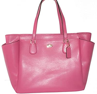 COACH Crossgrain Leather Baby Diaper Bag Multifunction Tote in Light Gold / Dahlia Pink 35702 by COACH that we recomend individually.