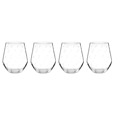 kate spade new york Larabee Dot Stemless White Wine Glass Set - 4 ct