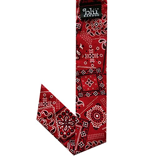 Blubandoo Water Activated Evaporative Neckbandoo Cool Tie With Cooling Crystals. (Bandana Prints Red)