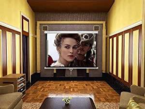 Motorized projection screen with remote control 180 X 180 cm