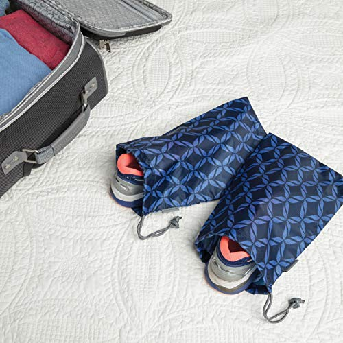 51KSglYOU8L - Travelon 2 Pairs of 2 Shoe Covers, Rope Weave/Charcoal