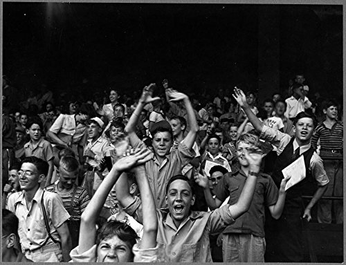 1942-Photo-Kids-at-a-ball-game-at-Briggs-Stadium-Detroit-Mich-Photograph-showing-boys-cheering-in-the-grandstands-at-a-baseball-game-Location-Detroit-Michigan