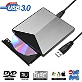 External DVD Drive, BOSLISA USB 3.0 DVD CD Burner, CD-RW Player, Optical DVD Drive High Speed Data Transfer Compatible for Laptop Desktop PC Support Windows10 /8/7 /XP/Mac OS