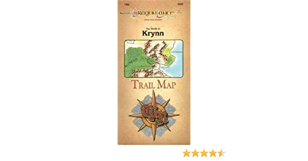 The World of Krynn Trail Map (Dragonlance Accessory/TM3, 9400 ... on neverwinter map, world diplomacy map, baldur's gate map, greyhawk map, isle of dread map, athas map, glorantha map, forgotten realms map, nirn world map, norrath map, treasure map,