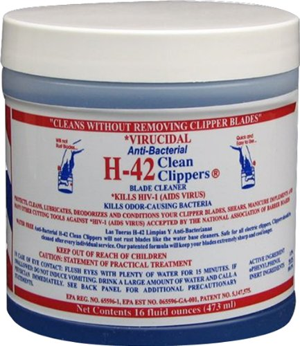 Clean Clipper Blades (H-42 CLEAN CLIPPERS Blade Cleaner CL-01945)