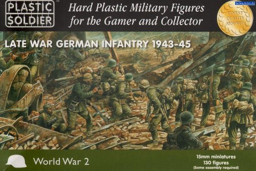 15mm WWII - German: Late War German Infantry (130) from Plastic Soldier Company