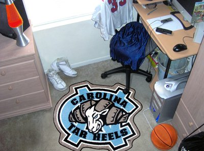Brand New UNC North Carolina – Chapel Hill Mascot Mat Approx. 3 ft x 4 ft