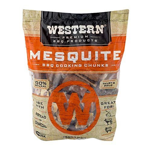 Western Premium BBQ Products Mesquite BBQ Cooking Chunks, 570 cu in