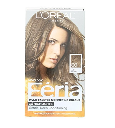 Loreal Feria - 60 Crystal Brown (Light Brown), (Pack of 3)