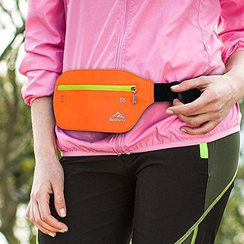 Sport Nylon Bag Bumbag Zipper Pack Waterproof Lonshell Chest Running Fanny Storage Phone Funky Bag Sling Hip Orange Bum Pack Shoulder Waist Bag Bag Travel Ix8w05q0A