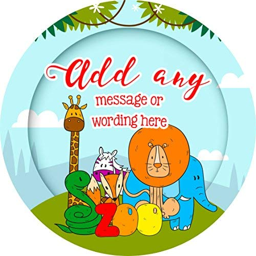 (hiusan Jungle Zoo Animals Personalized Sticker Lables Christmas Address Labels Envelop Seals Party Favor Tags)