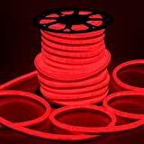 CHIMAERA 150ft 110V Red Flexible LED Neon Rope Light Indoor Outdoor Holiday Valentines Party Decor Lighting