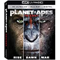 Planet of the Apes Trilogy [4K UHD + Blu-ray + Digital HD]